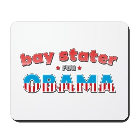 Bay Stater For Obama Mousepad