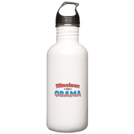 Illinoisan For Obama Stainless Water Bottle 1.0L
