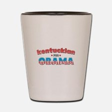 Kentuckian For Obama Shot Glass