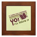 Yo! I'll Solve It Framed Tile