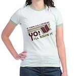 Yo! I'll Solve It Jr. Ringer T-Shirt
