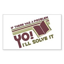 Yo! I'll Solve It Rectangle Stickers