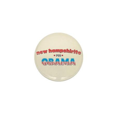 New Hampshirite For Obama Mini Button