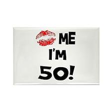 Kiss Me I'm 50 Rectangle Magnet (10 pack)