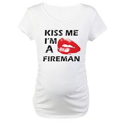 Kiss me I'm a Fireman Shirt