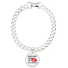 Kiss me I'm a Life guard Bracelet