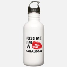 Kiss me I'm a Paralegal Water Bottle