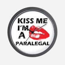 Kiss me I'm a Paralegal Wall Clock