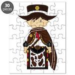 Poncho Cowboy Sheriff Puzzle