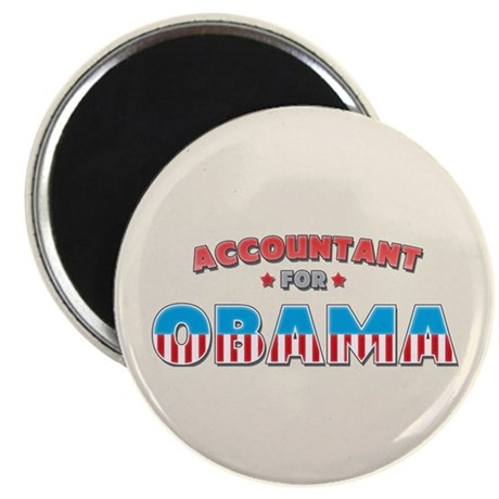 "Accountant For Obama 2.25"" Magnet (10 pack)"
