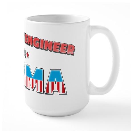 Air Flight Engineer For Obama Large Mug
