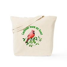 Cardinals Warm My Heart Tote Bag