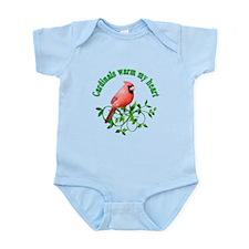 Cardinals Warm My Heart Infant Bodysuit
