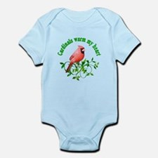 Cardinals Warm My Heart Infant Bodysuit