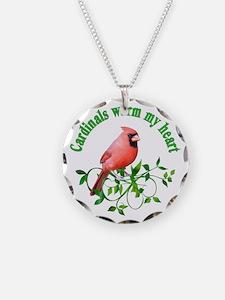 Cardinals Warm My Heart Necklace