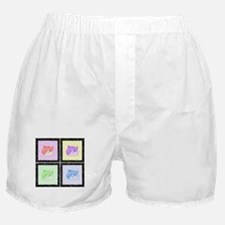 Furry Pastel Pop Art Cats Boxer Shorts