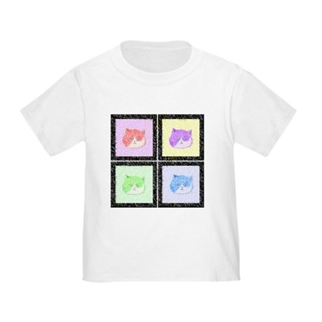 Furry Pastel Pop Art Cats Toddler T-Shirt
