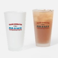 Crane Operator For Obama Drinking Glass