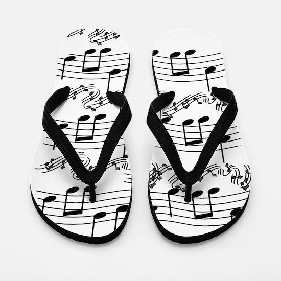 black notes Flip Flops