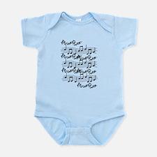 black notes Infant Bodysuit