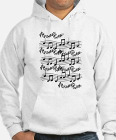 black notes Hoodie