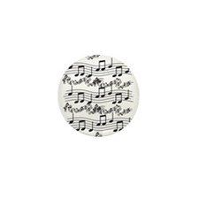 black notes Mini Button (10 pack)