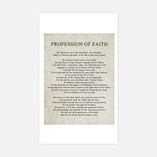 Profession of Faith Decal