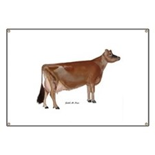 Jersey Cow Banner