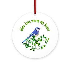 Blue Jays Warm My Heart Ornament (Round)