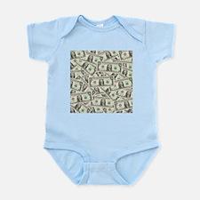 Dollar Bills Infant Bodysuit