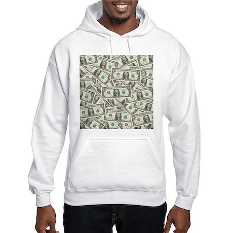 Dollar Bills Hooded Sweatshirt