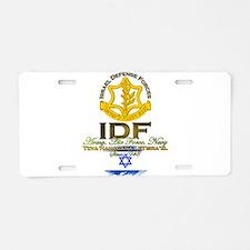 IDF Aluminum License Plate