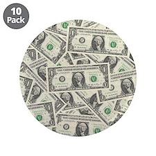 "Dollar Bills 3.5"" Button (10 pack)"