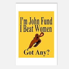 I'm John Fund - I Beat Women Postcards (Package of