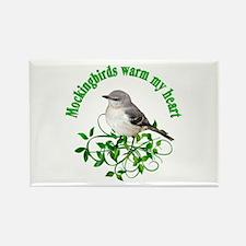 Mockingbirds Warm My Heart Rectangle Magnet