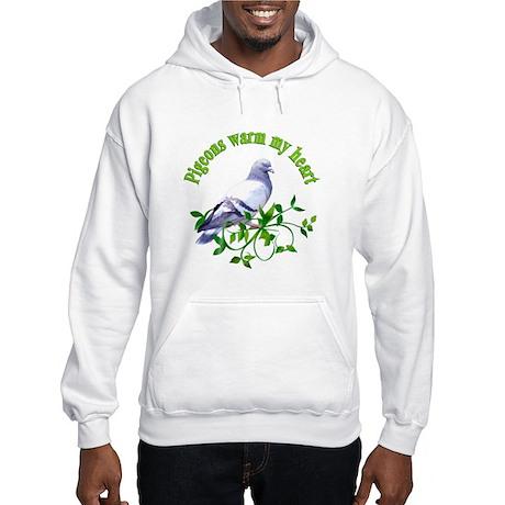 Pigeons Warm My Heart Hooded Sweatshirt