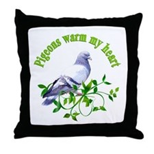 Pigeons Warm My Heart Throw Pillow