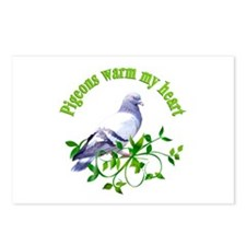 Pigeons Warm My Heart Postcards (Package of 8)