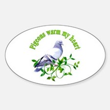Pigeons Warm My Heart Decal