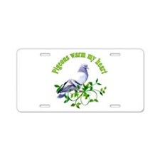 Pigeons Warm My Heart Aluminum License Plate