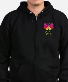 Sofia The Butterfly Zip Hoodie