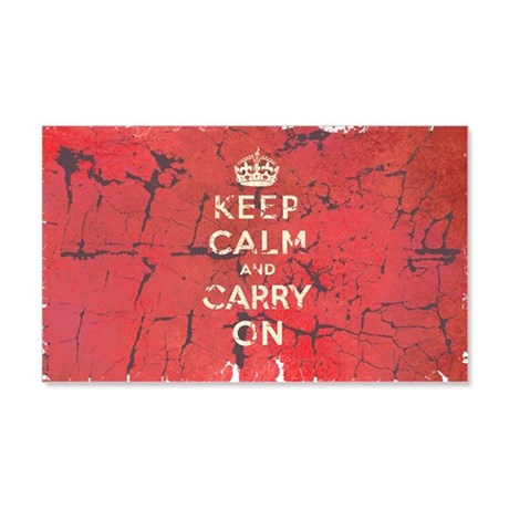 Keep Calm and Carry On 22x14 Wall Peel