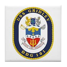 USS Gridley DDG 101 Tile Coaster