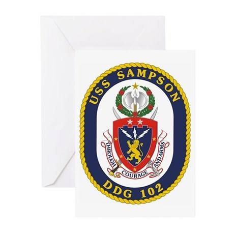 USS Sampson DDG 102 Greeting Cards (Pk of 10)
