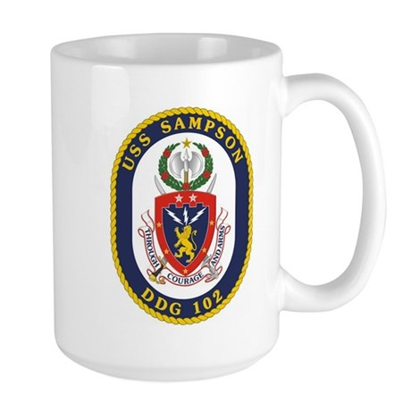 USS Sampson DDG 102 Large Mug