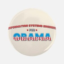 "Information Systems Engineer 3.5"" Button (100 pack"
