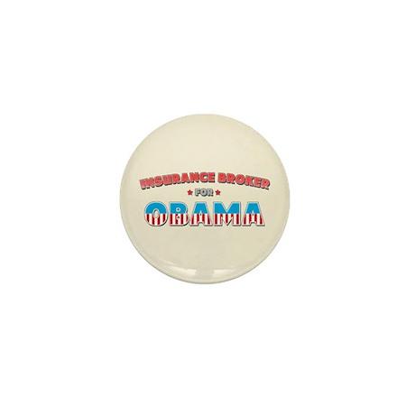 Insurance Broker For Obama Mini Button (10 pack)