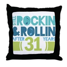 31st Anniversary Rock N Roll Throw Pillow