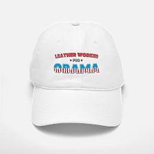 Leather Worker For Obama Baseball Baseball Cap
