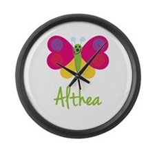 Althea The Butterfly Large Wall Clock
